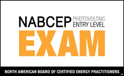 NABCEP Photovoltaic Entry Level Exam